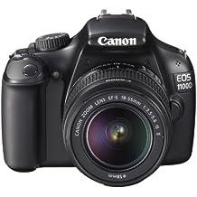 """Canon EOS 1100D - Cámara réflex digital de 12.2 Mp (pantalla 2.7"""", estabilizador óptico, vídeo HD), color negro - kit con objetivo EF-S 18-55mm IS II f/3.5"""