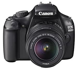 Canon EOS 1100D SLR-Digitalkamera (12 Megapixel, 6,9 cm (2,7 Zoll) Display, HD-Ready, Live-View) Kit II inkl. EF-S 18-55mm 1:3,5-5,6 IS II schwarz