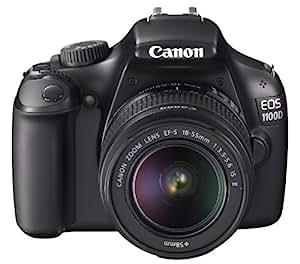 Canon EOS 1100D Fotocamera Digitale Reflex 12 Megapixel con Obiettivo EF-S 18-55mm IS II, Nero