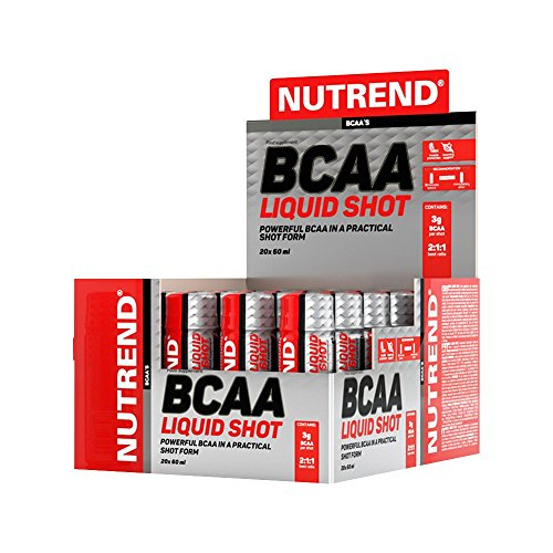 Nutrend BCAA LIQUID SHOT 20x60ml amino acids L-leucine, L-isoleucine and L-valine (BCAA) in a liquid form 3000 mg BCAA per serving, 2:1:1 Ratio, NO SUGAR