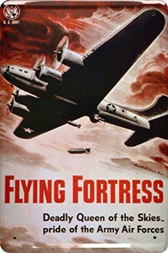 Spielzeug Dekoschild Geschenk U.S Army Air Force Flugzeug Flying Fortress Deko 20x30cm Nostalgie Metal Sign XLUFT4DO (Flying Metal Sign)