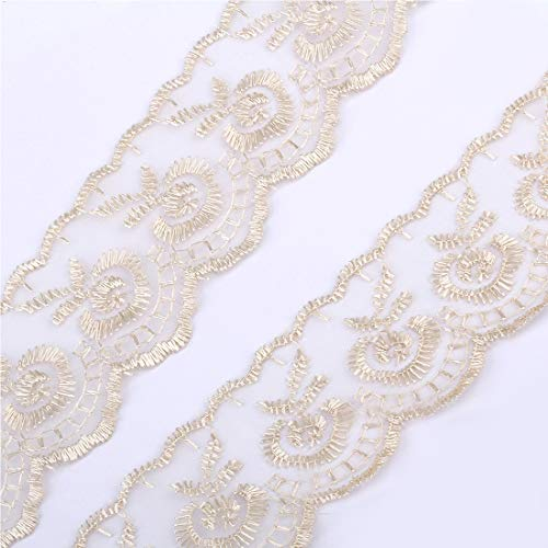 illumafye 10 Yards Lace Tape Bestickt Reine Spitze getrimmt Tuch für Hochzeitsdekoration Startseite DIY handgefertigte Accessoires -
