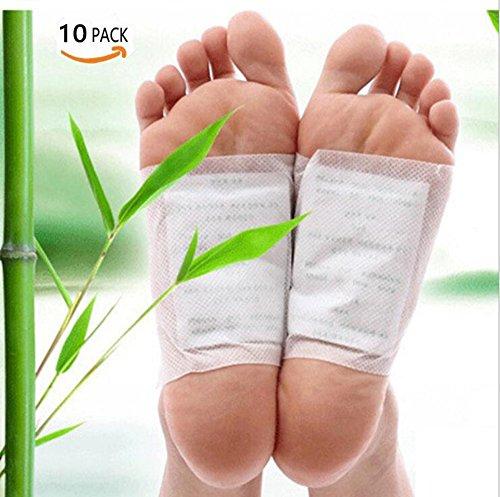 Detox Fußpflaster, Detox Vitalpflaster, 10 Stück Detox Foot Pads Fußpflaster Vitalpads Vital Bambus Pflaster Wellness- Detox-Pflaster zieht die Toxine Spa Beseitigung Bambuspflaster von Giftstoffen (10PC)