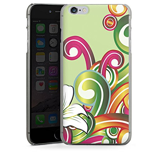 Apple iPhone X Silikon Hülle Case Schutzhülle Blume Blumenmuster Floral Hard Case anthrazit-klar
