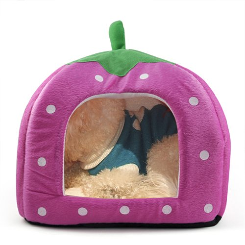 toogoor-soft-sponge-strawberry-pet-dog-cat-bed-house-kennel-doggy-cushion-basket-pillow-pink-s