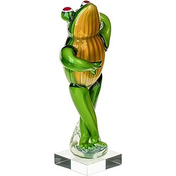 Glasfigur Frosch Glas Figur im Murano Antik-Stil Skulptur 30cm