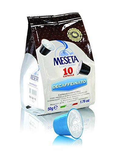 Caffè meseta 100 cialde capsule compatibili nespresso miscela decaffeinato