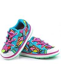 Baby's Choice - Zapatos para bebés con flash de luz, deportivas con dos colores, zapatos para correr para niñas, niños y bebés, zapatillas antideslizantes suaves para bebés y niños