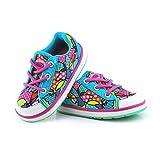 Baby's Choice - Zapatos para bebés con flash de luz, deportivas con dos colores, zapatos para correr para niñas, niños y bebés, zapatillas antideslizantes suaves para bebés y niños rosa Rose Talla:19