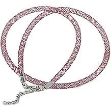 2 x moderno collar 48 cm - collar cadena Textil correa de tela collar cuello joyas para mujer