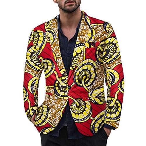 TWISFER Anzug Herren Langarm Ananas/Blätter/Blumen Drucken Hawaiihemd Sakko Casual Herbst Und Winter Feiertag Mit Bequemen Mode Bequeme Regular Fit Coat Jacke -