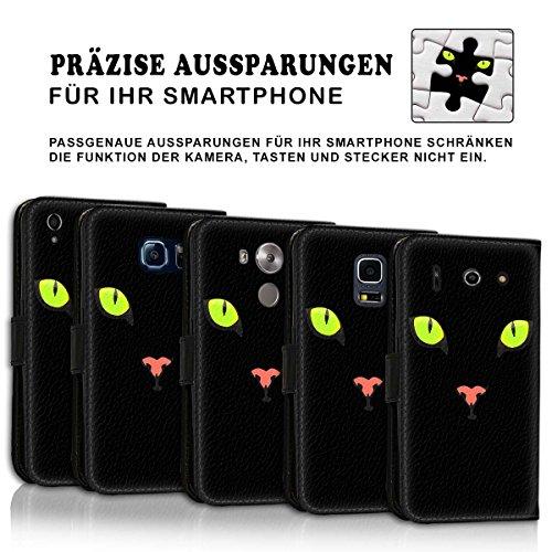 Wallet Book Style Flip Handy Tasche Case Schutz Hülle Schale Motiv Etui für Apple iPhone 6 / 6S - Variante UMV3 Design12 Design 10