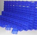 192 Stapelboxen Gr. 1 Stapelkästen Stapelkisten Sichtlagerkästen 52x102x95 mm