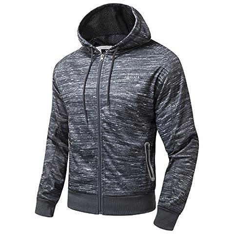 AIRAVATA Hommes Casual Hoodies Avant Zip-up Sweatshirt Outerwear US Tailles