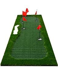 WENZHE Alfombra De Práctica Golf Putting Estera Putt Practica Con Marcas De Graduación Interior Afuera Suela De Goma , 1 * 3.5 M