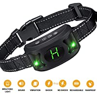 [2018 nouvelle version] Havenfly Small Dog Bark Collar - Collier anti-aboiement rechargeable pour petits chiens - Le plus petit collier anti-aboiement le plus humain - Dog Training Sk Bark Collar Waterproof - Dispositif anti-aboiement pour animaux de comp