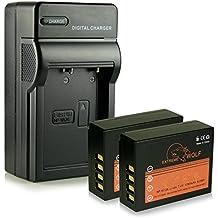 Cargador + 2x ExtremeWolf Batería NP-W126 para Fuji FinePix HS30EXR | HS33EXR | HS50EXR | Fuji X-A1 |X-A2 | X-E1 | X-E2 | X-M1 | X-Pro1 | X-T1 | X-T10