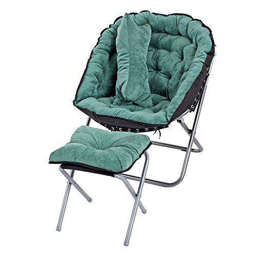 ZDY Klappstuhl Lazy Sofa Einzigen Doppel-Sofa Schlafzimmer Wohnzimmer Klappstuhl Liegesessel Klappstuhl (Farbe : O)