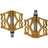 Hehh Tuoba Fish Pedales de Bicicleta, Ultra-Ligero de aleación de Aluminio Bicicleta de montaña Bicicleta de Carretera Universal Pedal,F