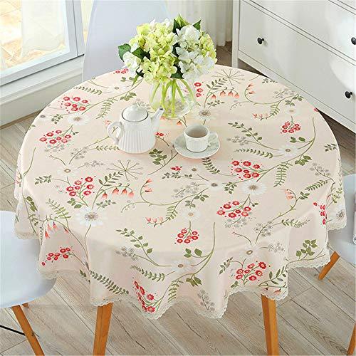 SONGHJ Tischdecke Baumwolle Leinen Esszimmer dekoriert kann die Tischdecke Öl und Wasser Proof D Durchmesser 90cm waschen (Regenbogen-farbigen Tischdecken)
