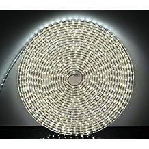 Tiras LED 15M con Interruptor, 220V IP65 Impermeable 5050 SMD, Blanco