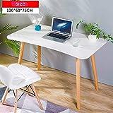 HPLL Lapdesks Laptopschreibtisch, Tischplattenschlafzimmerwohnzimmer des festen Holzes des Bettes, der Frühstücksmagazin-Tabelle lernt (Farbe : Weiß, größe : 120 * 60 * 75cm)