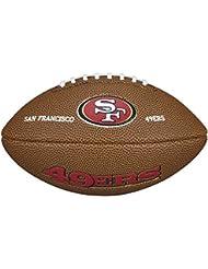 Wilson NFL Team Logo San Francisco 49Ers - Mini balón de fútbol americano, color marrón, talla única