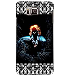 PrintDhaba Spider Man D-5695 Back Case Cover for SAMSUNG GALAXY ALPHA (Multi-Coloured)