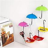 #2: Shopo's Umbrella Drop Style Clothes Key Hat Wall Hanger Hooks 3 Pcs in 1 Set