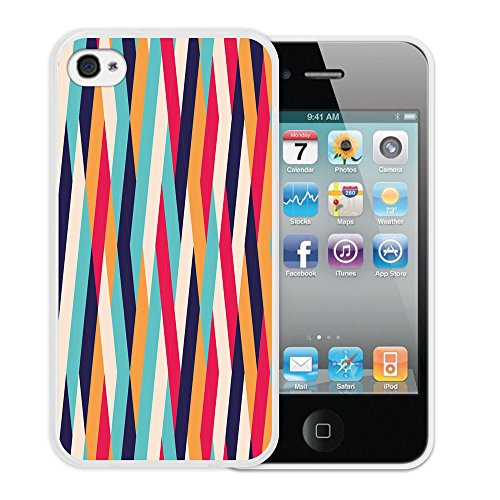 iPhone 4 iPhone 4S Hülle, WoowCase Handyhülle Silikon für [ iPhone 4 iPhone 4S ] Regenbogen Eule Handytasche Handy Cover Case Schutzhülle Flexible TPU - Transparent Housse Gel iPhone 4 iPhone 4S Transparent D0123