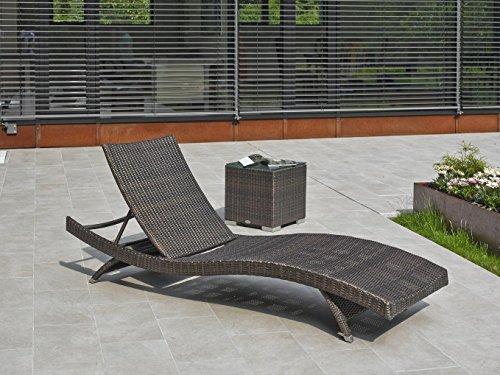 DESTINY Liege Wave Bronze Stapelliege Polyrattan verstellbar Gartenliege