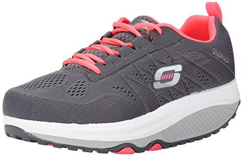 Skechers Shape Ups 2.0, Women's Fitness Shoes, Grey (Charcoal/Coral), 8 UK (41 EU)