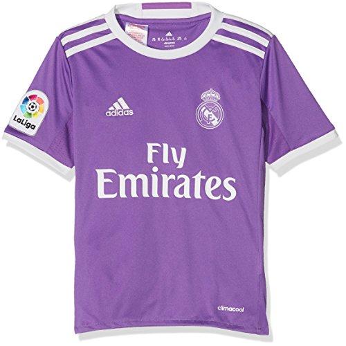 adidas JSY Y Camiseta 2ª Equipación Real Madrid CF 2015/16, Niños, Violeta/Blanco, 13-14 años
