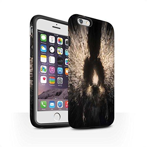 Offiziell Chris Cold Hülle / Matte Harten Stoßfest Case für Apple iPhone 6S / Pack 10pcs Muster / Dunkle Kunst Dämon Kollektion Zeriel das Licht