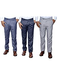 Indistar Combo Offer Mens Formal Trouser (Pack Of 3) - B01JRQX07M