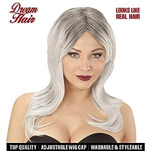 WIDMANN 06439peluca Lindsay Negro de gris en Drea mhair Calidad, mujer, One size