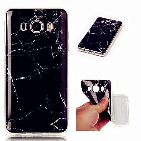 MUTOUREN Samsung Galaxy J5 (2016) SM-J510F case cover Silicone Case Cover [Crystal Clear] Premium TPU Shock Absorption TPU Bumper Drop Protection-black