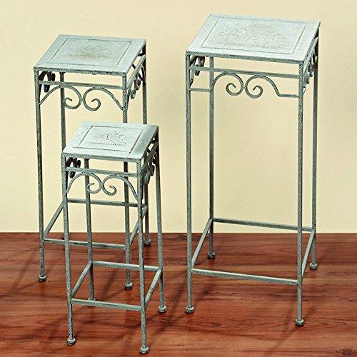 Bella-Vita Dapo Pflanzentisch Jamie eckig Beistelltisch 72cm hoch, Eisentisch Tisch (30x30x72cm)