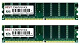 BEST Electronics 2GB Kit (2X 1GB) Arbeitsspeicher für Gericom Hummer 2460e DVD/CDRW, Notebook Speicher RAM