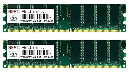 2GB Kit (2x 1GB) PC2700 Foxconn 865M06-G-6EKS Speicher RAM auch passend für ... Motherboard 865