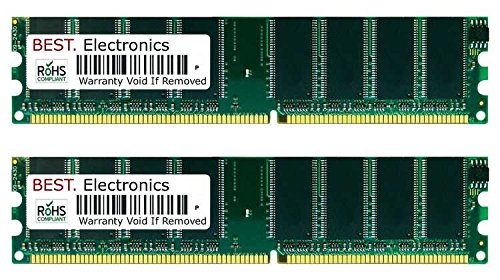 BEST Electronics 2GB Kit (2X 1GB) Arbeitsspeicher für Fujitsu-Siemens Scaleo P-p C 280 P4GV-MX, Desktop Speicher RAM