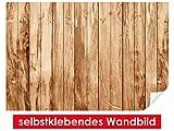 XXL-Tapeten selbstklebendes Wandbild Teak Wood – leicht zu verkleben – Wallprint, Wallpaper, Poster, Vinylfolie mit Punktkleber für Wände, Türen, Möbel und alle glatten Oberflächen von Trendwände