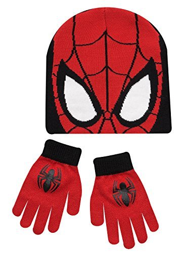 Boys-Kids-Spiderman-Winter-Hat-And-Gloves-Set