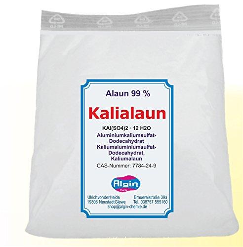 Kalialaun - alluminio solfato di potassio dodecaidrato naturale, in sacchetto con clip, 1 kg