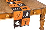 Xia Home Fashions Halloween Patchwork Tischläufer, Orange, 13 by 108-Inch