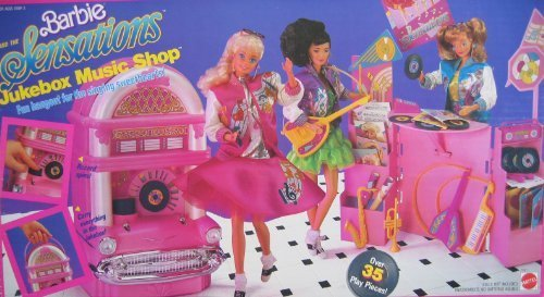 Barbie and The Sensations JUKEBOX MUSIC SHOP Playset w 35+ Pieces - Records Really Spin! (1987 Mattel Hawthorne) by Barbie