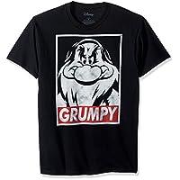 Disney Men's Snow White and Seven Dwarfs Grumpy Graphic T-Shirt, Black, 3XL