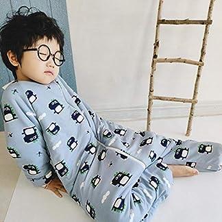Saco de Dormir Acolchado de Algodón,Saco de Dormir de algodón para otoño e Invierno, Saco de Dormir para niños con Pierna Engrosada, Gris_S,Bolsa de Descansa para Bebé