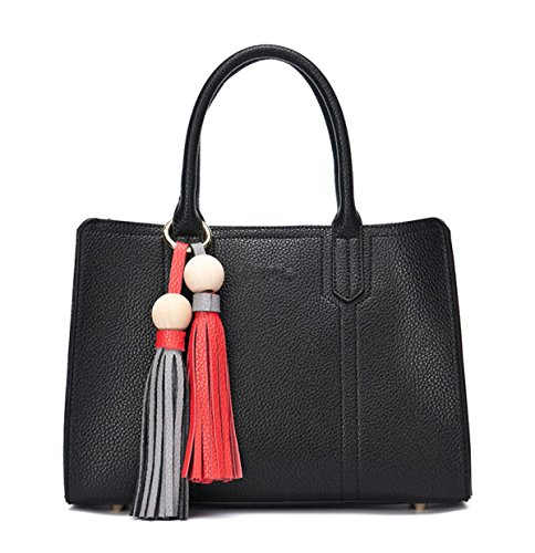 Mme Simple, Sac à Main Pu Black