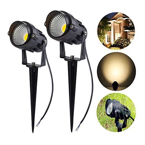 Homwell luz jardin LED, 7W COB Foco Para Exteriores 750LM, IP66 Cálido...